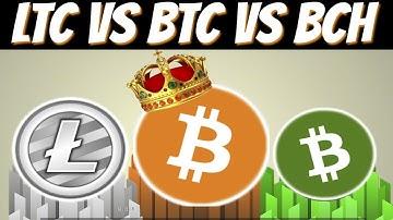 Bitcoin vs Litecoin vs Bitcoin Cash (Comparison)