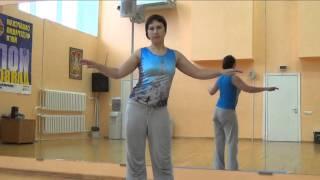 Уроки восточных танцев. Связки из горизонтальных кругов