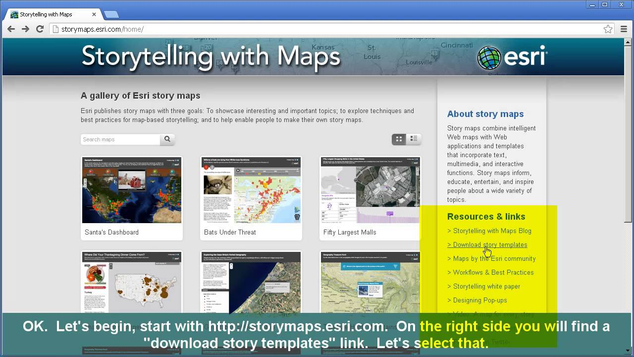 esri story maps for education creating 1 of 2 youtube