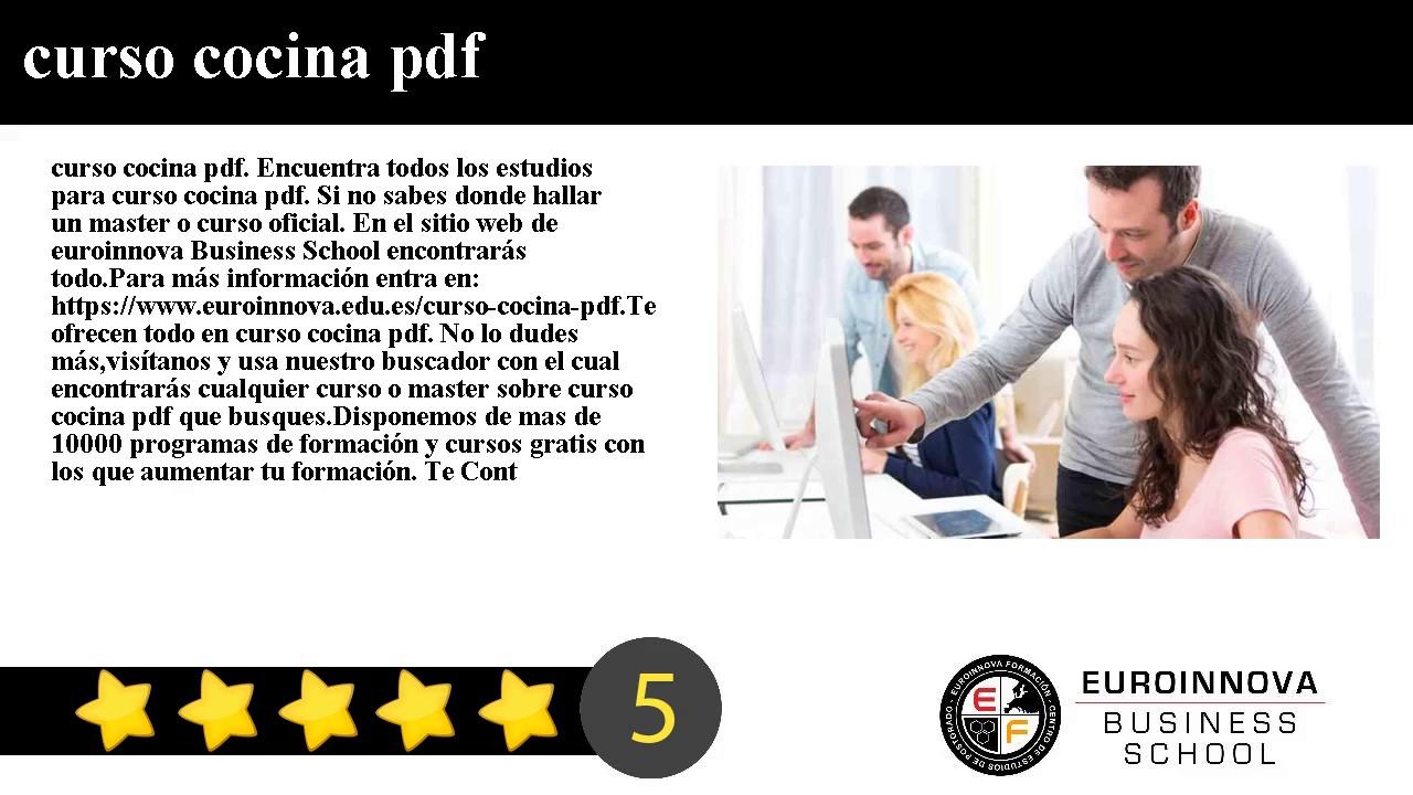 Genial curso cocina pdf im genes cocina curso decoracion for Curso de cocina pdf