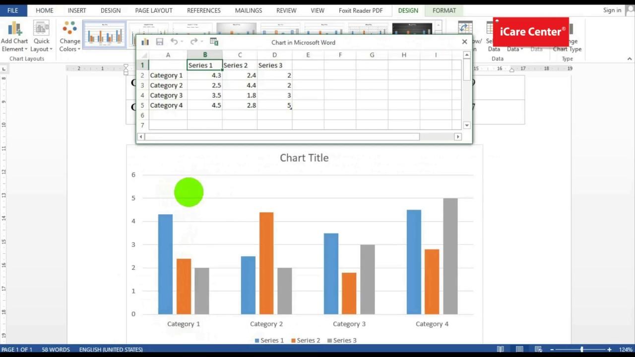 Hướng dẫn tạo biểu đồ trong Word 2013 – iCare Center