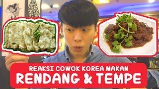 COWOK KOREA Pertama kali coba RENDANG dan TEMPE MENDOAN!! | Korea Vlog 3-1 | COWOK KOREA