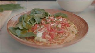 Deliciously Ella Five Minute Chickpea Pancakes | Vegan & Gluten Free