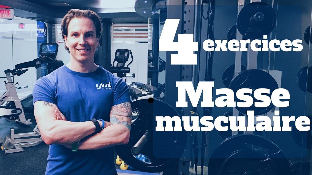 Prise de masse musculaire: Les 4 exercices essentiels ...