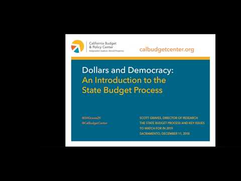 12-11-2018: The State Budget Process and Key Issues to Watch for in 2019