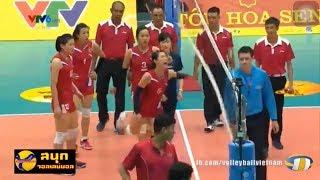 เกาหลีเหนือฟิวส์ขาด ไม่พอใจกรรมการถึงกับตบเน็ตใส่ + ไม่จับมือยุ่น DPRK - NEC RedRockets VTV Cup 2019