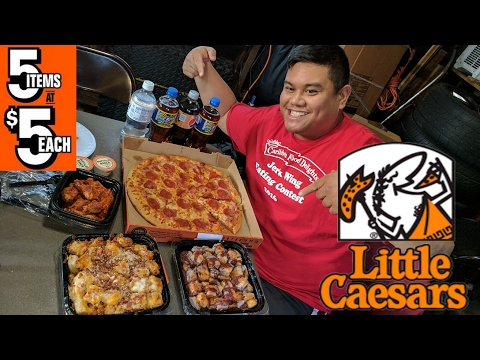 Little Caesars 5 for 5 Food Challenge