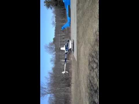 Helicopter ride 3-30-13 with Mansfield Heliflight in Milton Vermont VT take off
