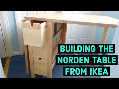 Building The Norden Table From Ikea Youtube