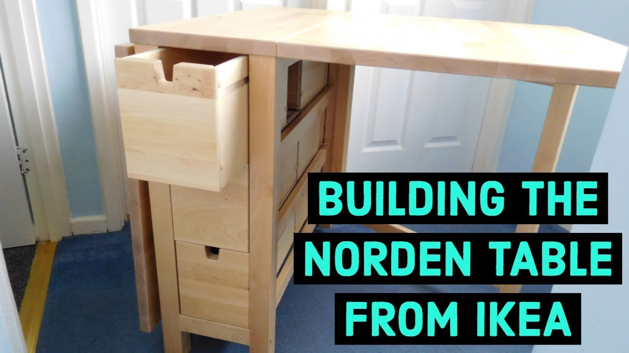 Ikea Norden Kücheninsel Building The Norden Table From Ikea - Youtube