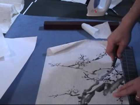 Silicone Paper Patching Technique in Chinese Painting (1 of 2)