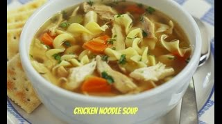 Crock pot chicken noodle soup! Happy memorial day everyone!  :)