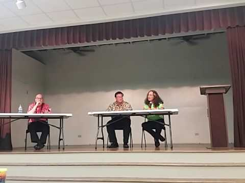 Keli`i Akina & Mililani Trask at Candidate Forum Sept. 28, 2016