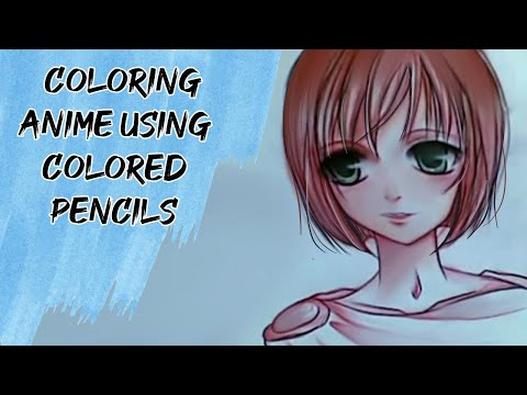 Colouring anime using colour pencils