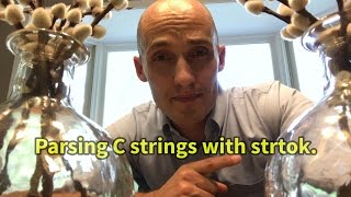 Parsing C strings with strtok.