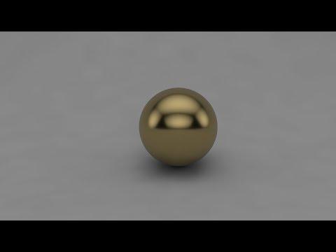 [Cinema 4D] Realistic Gold Material [Tutorial]