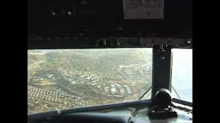 DC-3 flight over El Cajon, CA. Cockpit view - Part 1 of 2