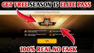 HOW TO GET FREE ELITE PASS IN FREE FIRE GAME || HOW TO GET FREE SEASON 15 ELITE PASS IN FREE FIRE