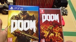 DOOM for Nintendo Switch Unboxing! Plus Bonus PS4 Comparison (Box Art)