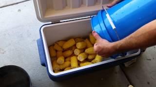 Corn in a cooler - Memorial Day