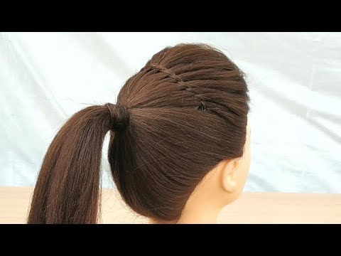 Easy New Trick To Make Puff Hairstyle Beautiful Ponitail Hairstyle For Everyday Daily Use Hair Youtube