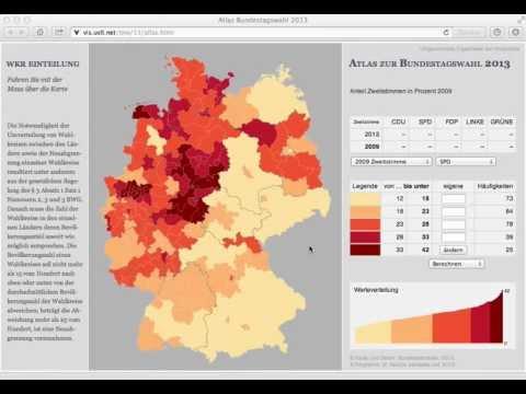 Atlas zur Bundestagswahl 2013 -- Umgerechnetes Ergebnis der vorigen Wahl
