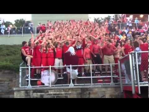 "North Hills High School Student Section ""Moses Parting the Red Sea"" 9/6/13"