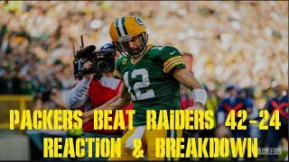 Packers Beat Raiders 42-24 Reaction & Breakdown