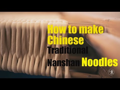 How to make Chinese traditional Nanshan noodles |More China