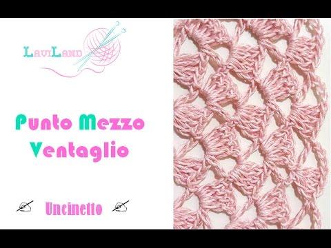 Punto Mezzo Ventaglio Uncinetto Crochet Stitch Youtube