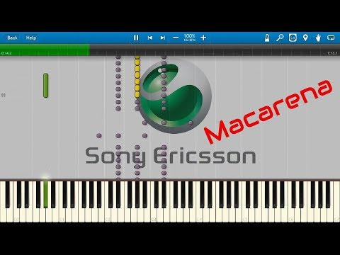 sony ericsson ringtone macarena remix (synthesia)