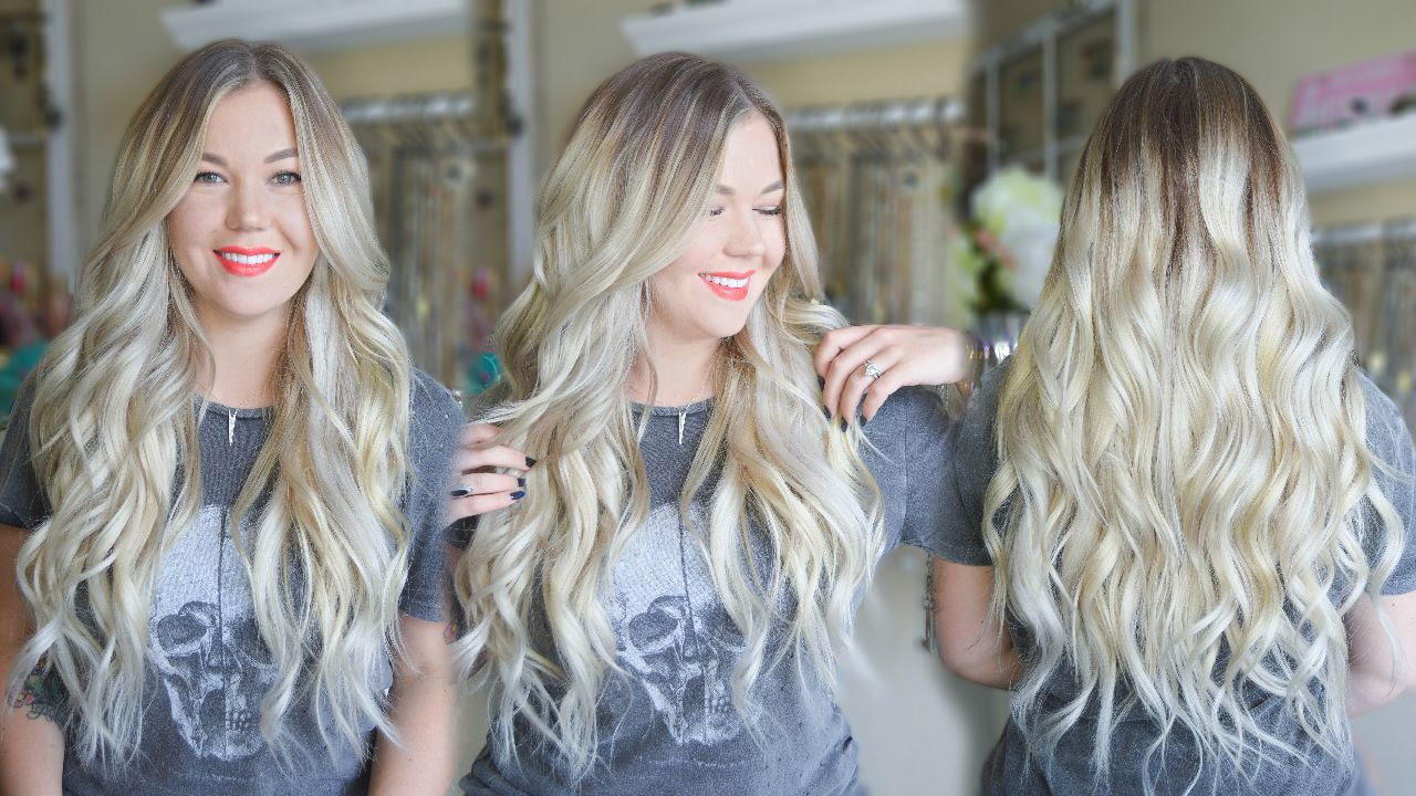How To Tone Brassy Blonde Clip In Extensions Youtube