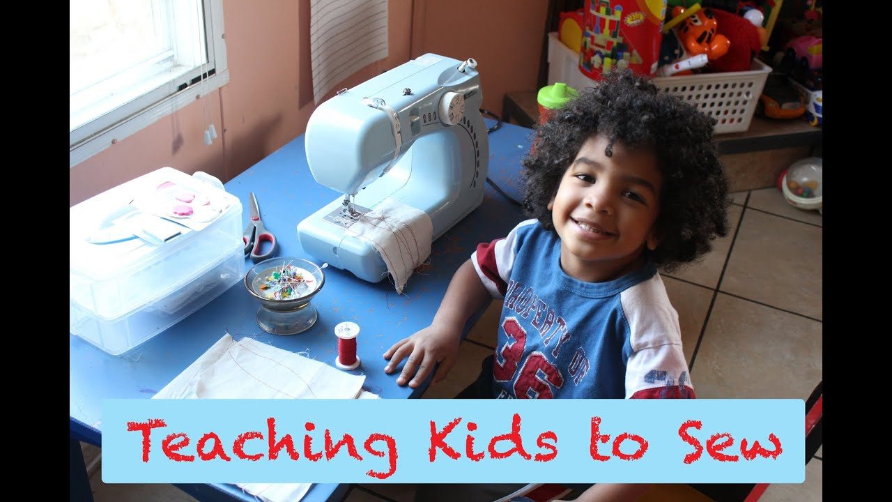 d7635b4728 Teaching Kids to Sew- Tips   Ideas - YouTube