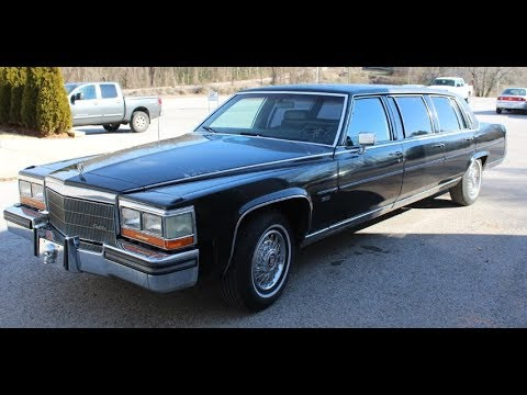 1986 Cadillac Brougham Limousine   Online At Tays Realty & Auction, LLC
