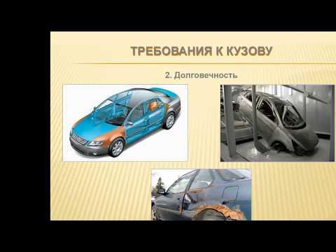 Общее устройство транспортных средств категории В  Кузов, рабочее место водителя, системы пассивной