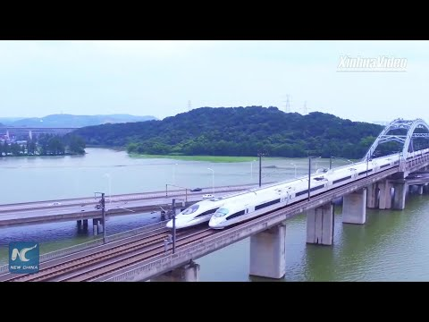 China's busiest high-speed railway sees 350,000+ passenger trips daily
