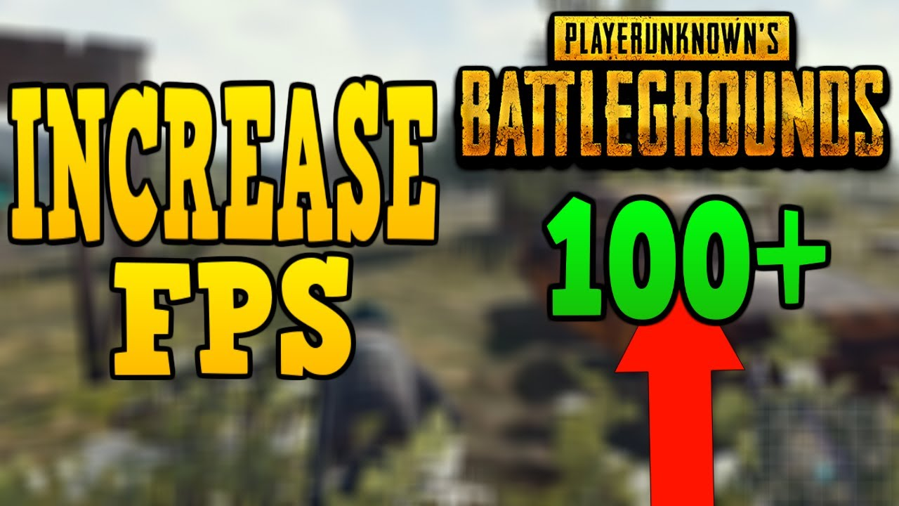 HOW TO GET MORE FPS IN PUBG!!! (30-100+!!)