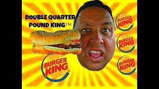 Burger King DOUBLE QUARTER POUND KING™ REVIEW!