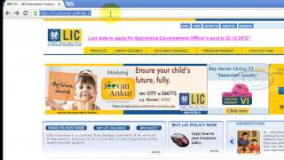 Login LIC India Online