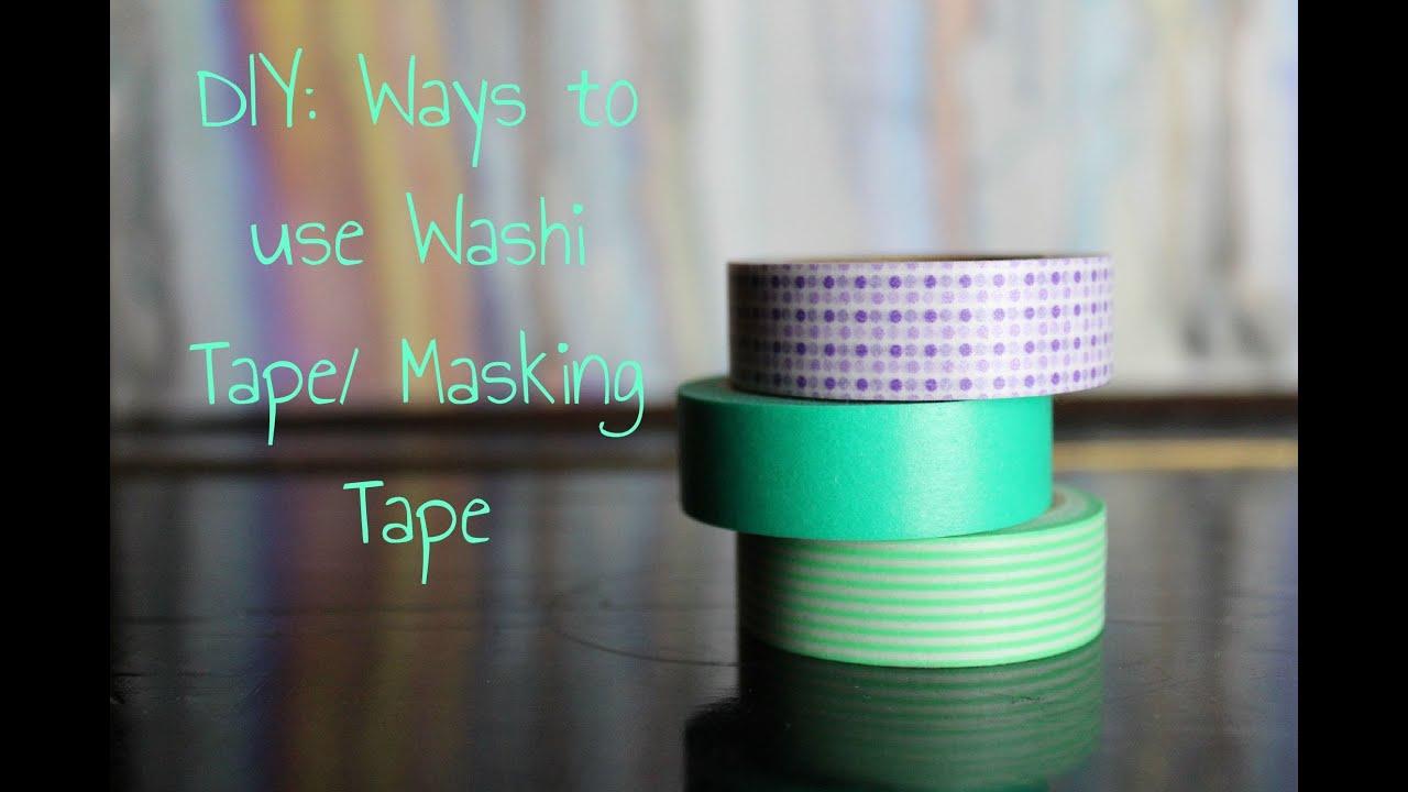 Diy ways to use washi tape masking tape cool ideas youtube - Masking tape utilisation ...