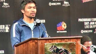 Manny Pacquiao vs. Adrien Broner press conference and face off.....AB goes off on Al Bernstein