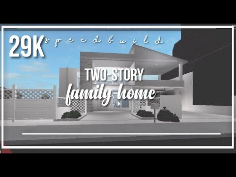 Roblox Bloxburg 29k Two Story Family Home Youtube