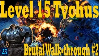 StarCraft 2: Level 15 Tychus Walk-through #2, Brutal Co-op Mission, Mastery 90+ (Dead of Night)