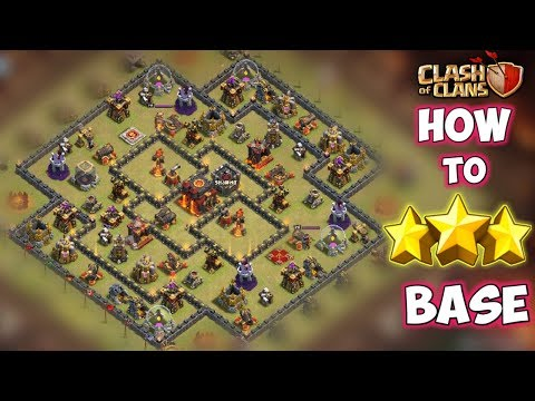 """How To 3 Stars This Popular Th10 """"INFERNO ISLAND"""" ANTI 2 STARS WAR BASE 