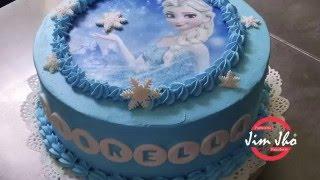 Decoración Facil de Torta Frozen de Chantilly