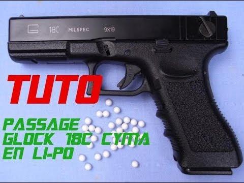 [TUTO] Passage d'un Glock 18C Cyma en batterie lipo.