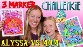 3 Marker Challenge with my Mom