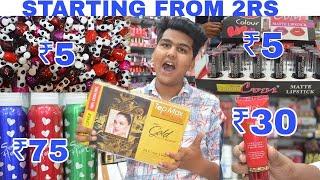 Wholesale cosmetics market in sadar bazar | starting at ₹1 | Delhi | Prateek Kumar