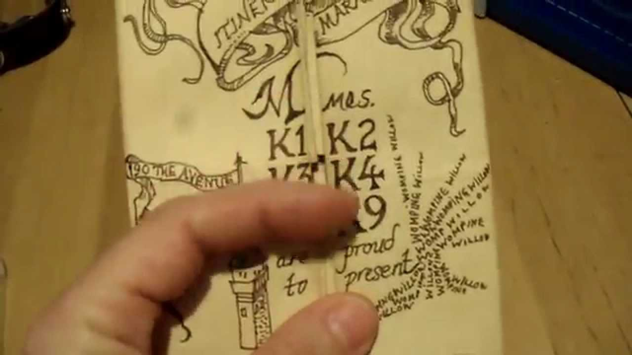 How to make a harry potter marauders map themed card that reveals how to make a harry potter marauders map themed card that reveals surprises as they open it youtube bookmarktalkfo Images