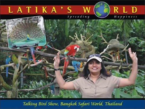AMAZING TALKING BIRDS BANGKOK SAFARI WORLD THAILAND 2016 LATIKAS WORLD